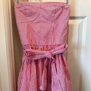 Candy stripe strapless Abercrombie dress